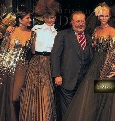 Stephanie Seymour, Karen Mulder & Nadja Auermann, Dior by Gianfranco Ferrè, autumn/winter 1994, Haute Couture