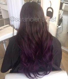 Purple balayage ombré. Done by Sara Nolen at Bespoke Salon in Portland, OR. Instagram: @saranolenstylist