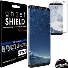 From 2.95:[pack Of 2] Techgear Samsung Galaxy S8 Plus Ghostshield Edition Genuine Reinforced Tpu Screen Protector Guard Covers With Full Screen Coverage Including Curved Screen Area [3d Curved Edges Protection] (sm-g955) | Shopods.com