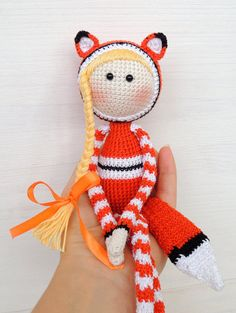 Unique kids gift Stuffed animals Fox doll Pre teen от ColoredYarn