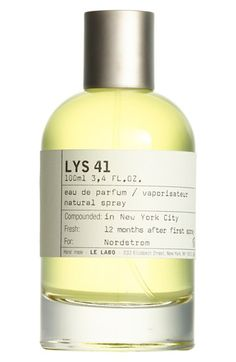 Free shipping and returns on Le Labo 'Lys 41' Eau de Parfum at Nordstrom.com. Lys 41 Eau de Parfum is an overwhelming white floral fragrance that blends jasmine, tuberose absolute and lily. It is bewitching in its noble, warm and sunny approach, yet treacherous once caught in its web of noble wood, vanilla Madagascar and musks. Lys 41 rewards those looking for a statement with an addictive floral buzz that is as potent as its wake and as insistent as the people following you around.Notes…