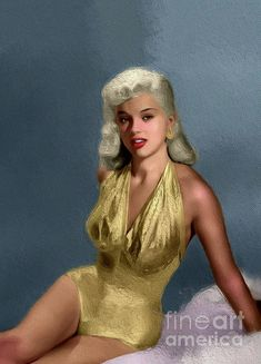 Painting - Diana Dors, Vintage Movie Star by Esoterica Art Agency , Vintage Movie Stars, Classic Movie Stars, Vintage Movies, Classic Actresses, British Actresses, Beautiful Actresses, Old Hollywood Stars, Hollywood Glamour, Classic Hollywood