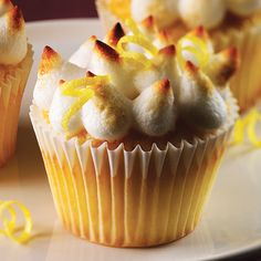 Lemon Meringue Cupcakes - Clean Eating - Clean Eating