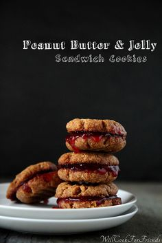 Peanut Butter & Jelly Sandwich Cookies, and a 30-Day challenge - are you up for it? by WillCookForFriends, via Flickr