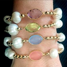 Bracelets By Vila Veloni Delicate Pearls and Stones