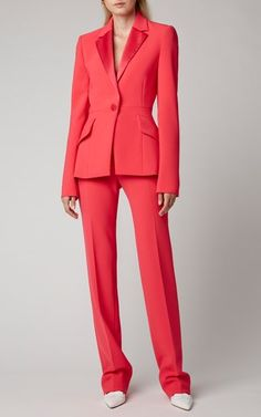 Women's Designer Jackets | Moda Operandi Carolina Herrera, Slim Fit Trousers, Work Attire, Straight Leg Pants, Colored Blazer, Daily Fashion, Fashion Spring, Designing Women, Women Wear