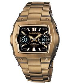 Casio G-Shock Men's Watch - nice and solid and chunky.  I really like the bronze-coloured band.