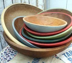 Painted Vintage Butter Bowls DIY