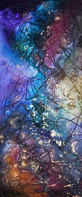 """opera astratta, titolo """"Simbiosi"""" sabbia, colori acrilici"""