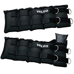 Valeo 20 Lb. Adjustable Ankle/Wrist Weights, Black, Pair. Features padded palms and fingers, elastic cuffs, and nylon mesh backs with hook-and-loop closure tabs. Improve your balance, coordination, flexibility, and endurance. Helps develop core strength. Exercise several muscle groups at once. Double-reinforced wrist pulls. Gripping closure for easy insertion and removal of weight packs. Includes: (2) 10lb ankle/wrist weights. One size fits all.