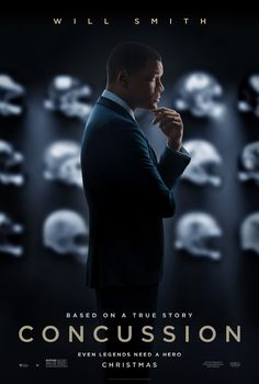 1 of the Top 25 Hollywood movies of 2016 Concussion advance movie poster, 2015.
