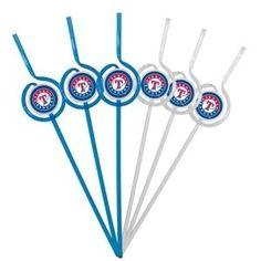 Texas Rangers Team Sipper Straws