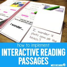 Interactive reading passages focus on vocabulary, comprehension, text evidence, fluency, and more! Free reading passage in the preview download to try out! First Grade, Second Grade, Text Evidence, Reading Passages, Teaching Tips, Free Reading, Comprehension, Lesson Plans, Vocabulary