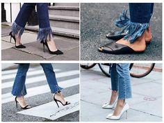 me gusta el jean con nota en flecos