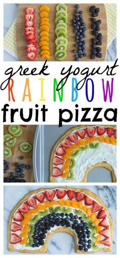 Greek Yogurt Rainbow Fruit Pizza // Well-Plated