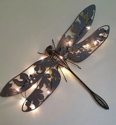 Dragonflies Dragonfly Decor, Dragonfly Jewelry, Dragonfly Tattoo, Metal Projects, Metal Artwork, Yard Art, Beautiful Creatures, Metal Working, Stuff To Buy