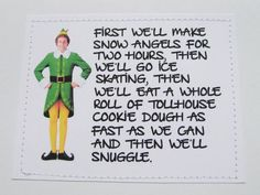 The Elf Christmas Stockings  Elf The Movie Quotes Christmas Stocking
