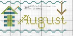 """August"" free chart from The Sampler Girl"