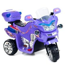 Ride on Toy, 3 Wheel Motorcycle for Kids, Battery Powered Ride On Toy by Lil' Rider – Ride on Toys for Boys and Girls, 2 - 5 Year Old - Purple FX
