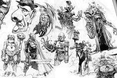 Grzegorz Przybyś Daily Sketchbook doodling   http://polskagrafikacyfrowa.pl/grzegorz-przybys