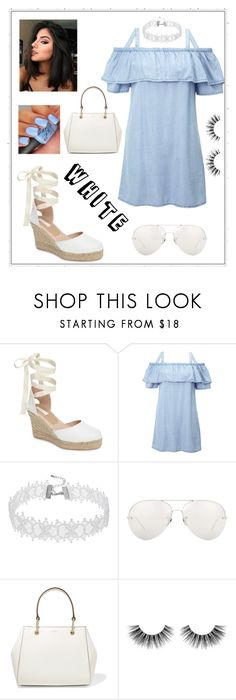 """Summer dress"" by siren74 ❤ liked on Polyvore featuring Topshop, Miss Selfridge, Linda Farrow, DKNY and Velour Lashes"