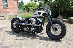 Harley Davidson Softail EVO Bobber / Old School Look / Penzl Auspuff   Auto & Motorrad: Fahrzeuge, Motorräder, Harley-Davidson   eBay! #harleydavidsonsoftailbobber