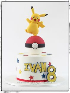 Pokemon themed birthday cake.