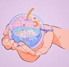 🍎 Dapple Apple 🍎 🌸 By Meyoco 🌸 Arte Do Kawaii, Kawaii Art, Kawaii Anime, Aesthetic Drawing, Aesthetic Art, Character Art, Character Design, Japon Illustration, Star Illustration