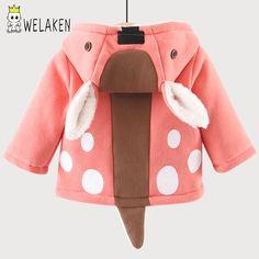 33ece817 Пальто для мальчиков с проектом оленей теплая куртка замш с капюшоном с  проектом оленя осень и
