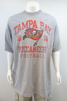 Tampa Bay Buccaneers T-Shirt NFL Team Apparel Gray Mens 3XL NWOT M189 #NFLTeam #TampaBayBuccaneers