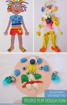 Psicopedagogia Salvador: Moldes de bonecos para as crianças montarem caract...