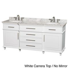 Web Image Gallery Wyndham Collection Berkeley inch White Double Bathroom Vanity by Wyndham Collection