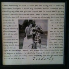 Our wedding song.....  Anniversary gift!  I am going to try this...write 1st dance lyrics on the matting!