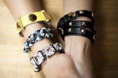 stacks of chunky bracelets