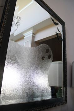 Ghost in the mirror. Use window vinyl texture or press and seal!