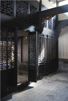 Chinese refined courtyard - inside/outside