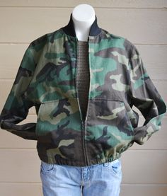 Will be ON SALE for $40.50 Vintage Military Camo Jacket Camo Bomber by founditinatlanta, $45.00