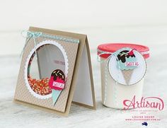 mini paper craft ice cream container to match mini ice cream theme shaker-card - Stampin' Up {Cool Treats} Birthday Wishes, Birthday Cards, Karten Diy, Slider Cards, Diy Papier, Kids Cards, Cool Cards, Homemade Cards, Stampin Up Cards