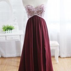size 2 maroon prom dress! Size 2. Bought it but it doesn't fit. Great condition, only worn once by previous owner. Great fabric it's comfortable too. built in push up bra! (as seen on princessly and wanelo) Dresses Prom