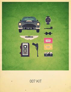 Movies Hipster Kits by Alizée Lafon, via Behance