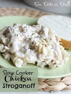 Slow Cooker Chicken Stroganoff on SixSistersStuff.com