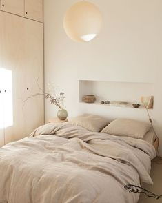 Creating Interior Niches with Recessed Walls Creating Interior Niches with Recessed Walls T.C: Creating Interior Niches with Recessed Walls Bedroom Styles, Home Bedroom, Bedroom Furniture, Ikea Bedroom, Calm Bedroom, Calming Bedroom Colors, Earthy Bedroom, Nature Bedroom, Serene Bedroom