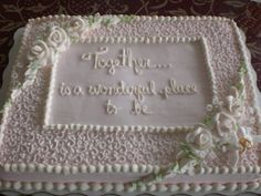 11 Best Cakes Images Wedding Sheet Cakes Wedding Shower Cakes