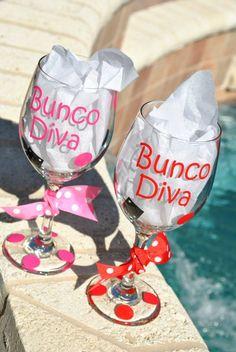 Great gift for a Bunco Babe! Bunco Snacks, Bunco Prizes, Bunco Game, Bunco Party, Casino Royale, Bunco Themes, Bunco Ideas, Party Ideas, Bunco Gifts