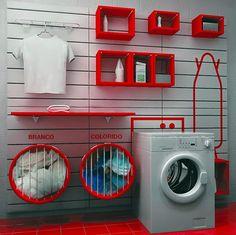 Nesta postagem eu mostrei que é possível disfarçar as lavanderia conjugadas às cozinhas. Porém, quem não acha necessário escondê-las pode muito bem deixá-las exibidas, porém já que vão ficar à vis…
