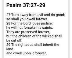 Psalm 37:27-29