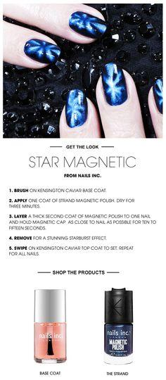 Beauty How To: Star Magnetic Nails #Sephora #SephoraNailspotting #NailsInc #nailart