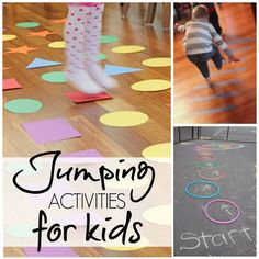 Jumping Activities for Kids -- great for gross motor development! #sp