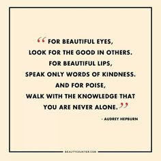Love this quote! Beauty starts from the inside....