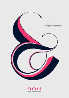 I need to pick a letter and make an illustration of it. Ampersand sounds like a good starting point.